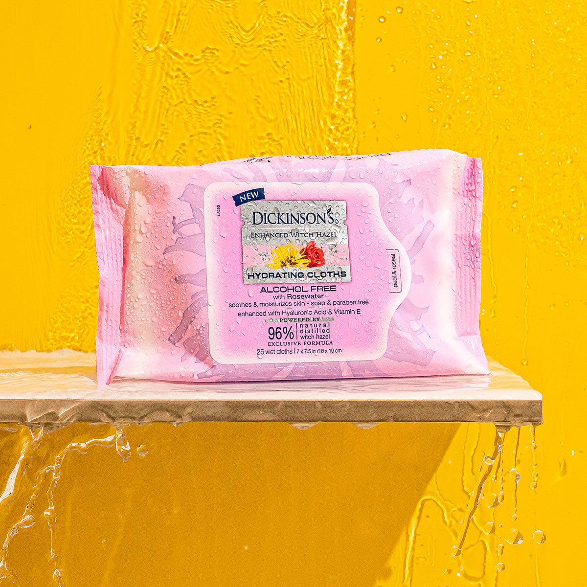 Dickinson's Witch Hazel Hydrating Cleansing Cloths With Rosewater