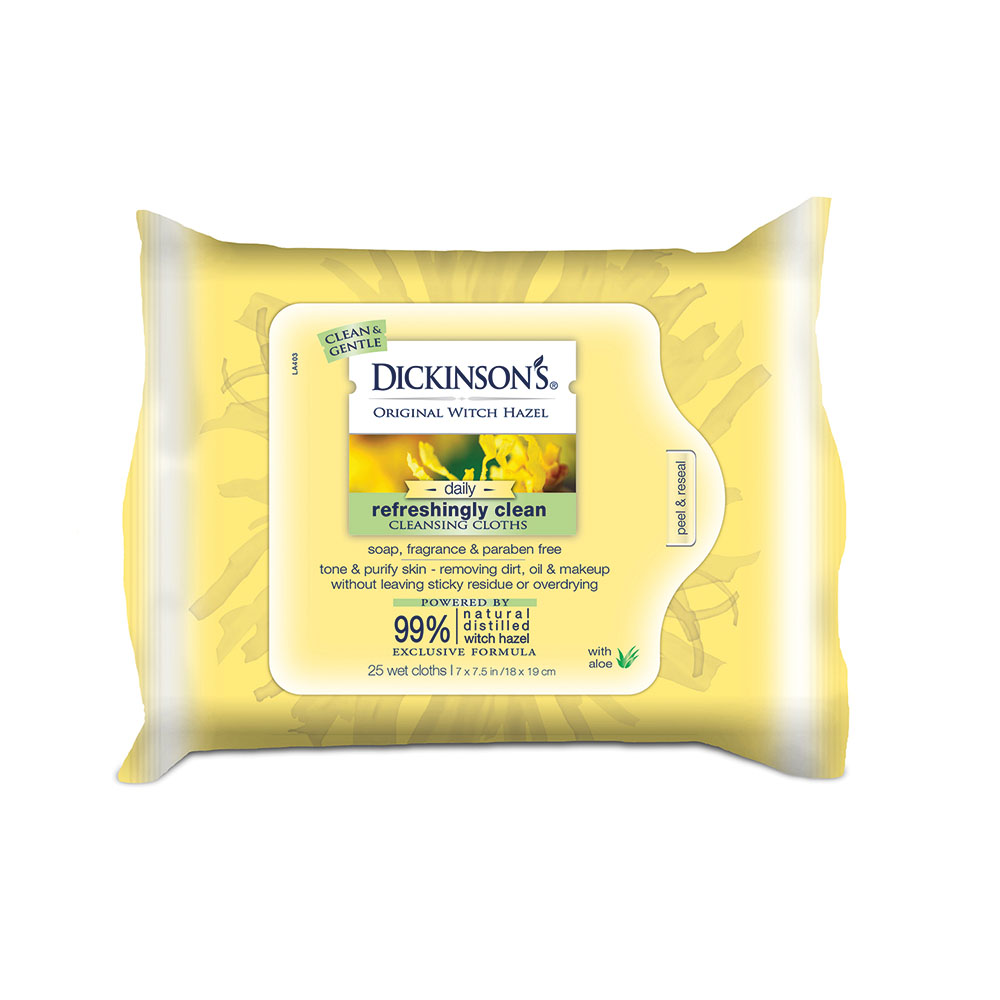 Dickinson's Original Witch Hazel Refreshingly Clean Cleansing Cloths